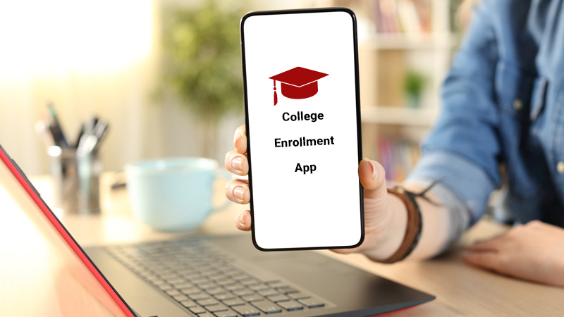 Cell phone app that says college Enrollment App.