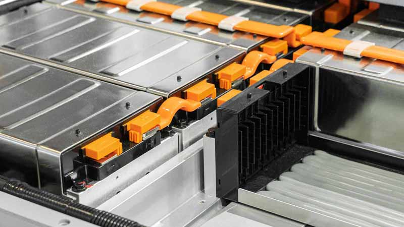 An electric car battery pack.