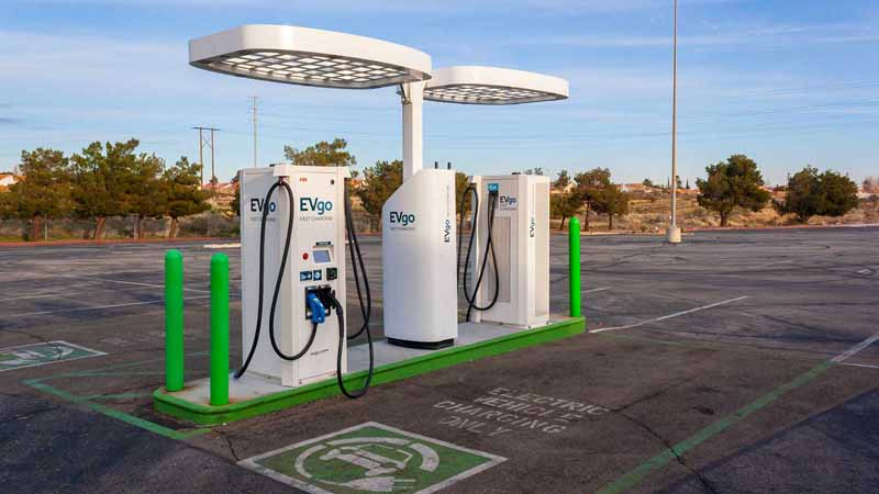 An EVgo charging station.