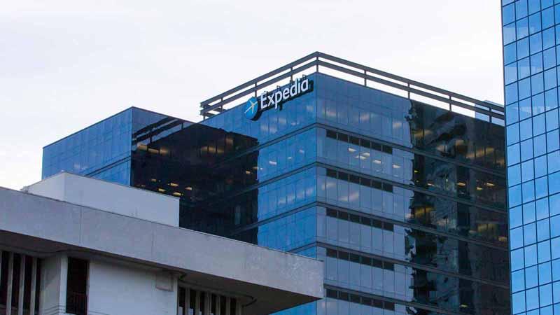 Expedia building in Bellevue, Washington.