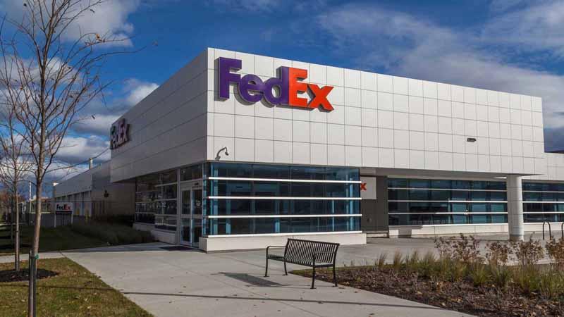 FedEx center in Toronto, Canada.