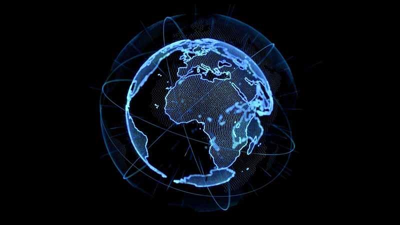 Digital global networking concept art.