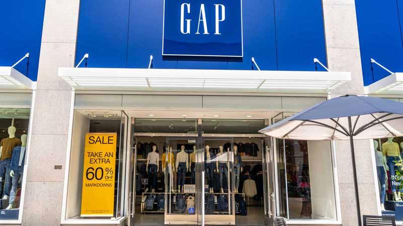 Gap storefront.