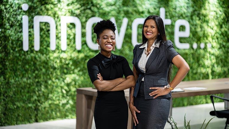 Two Black female entrepreneurs.