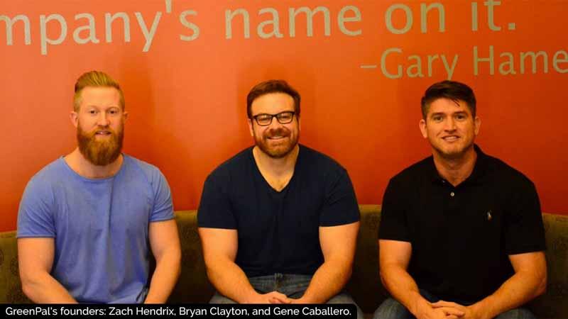GreenPal's founders: Zach Hendrix, Bryan Clayton and Gene Caballero.