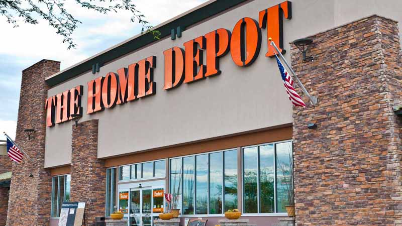 A Home Depot storefront.