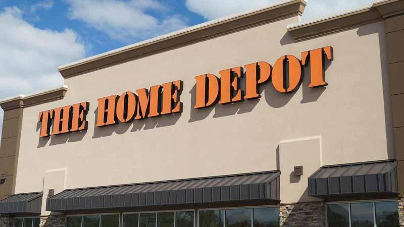 Home Depot storefront.