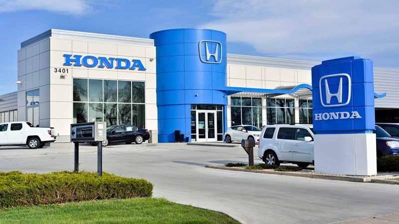 Honda dealership.