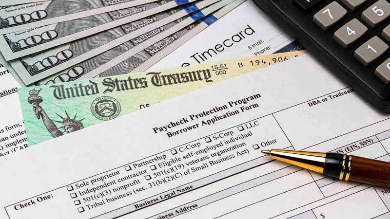 Paycheck Protection Program application form.