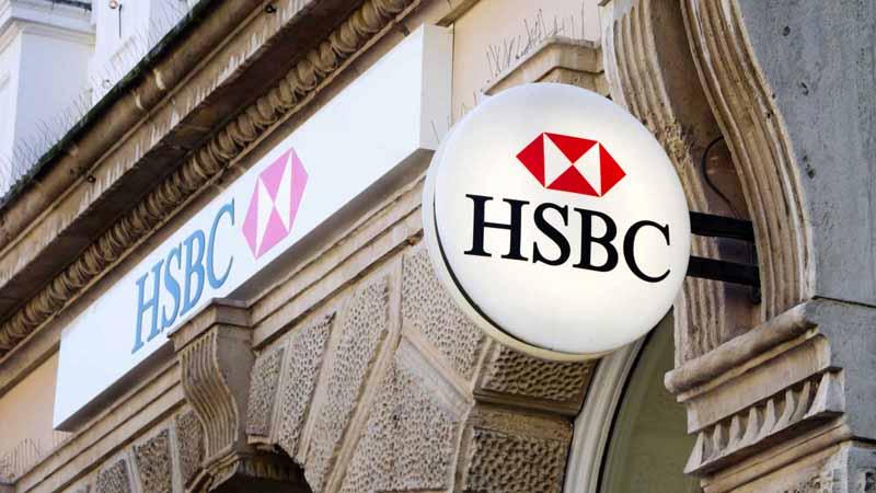 HSBC Bank signs.