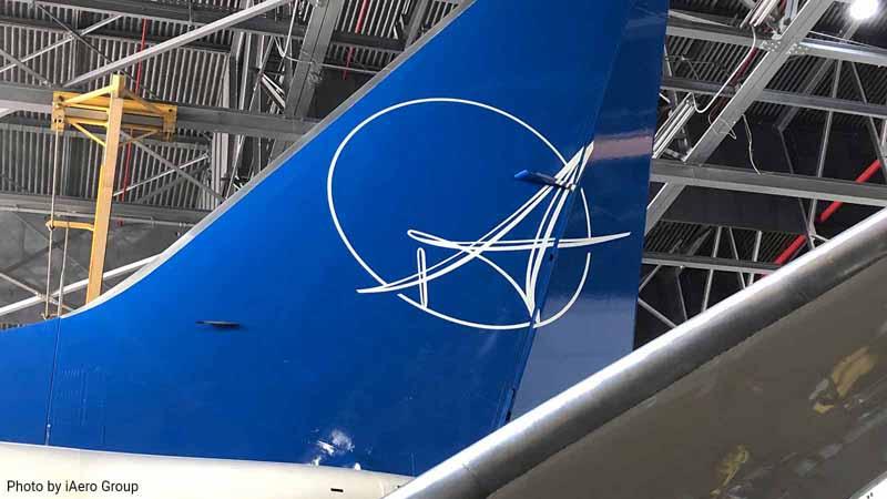 iAero Group logo on a plane.