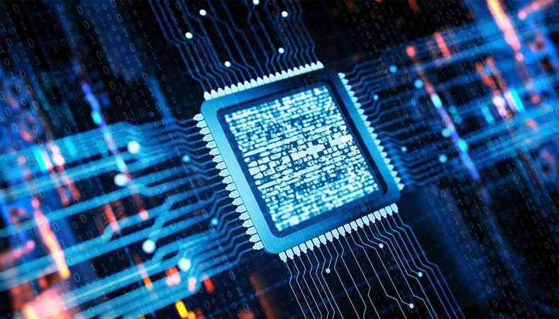 Computer chip concept.