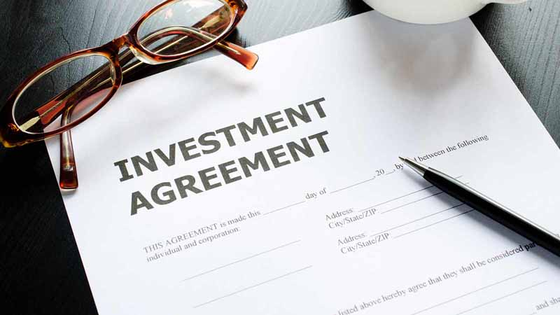 An investment agreement document.