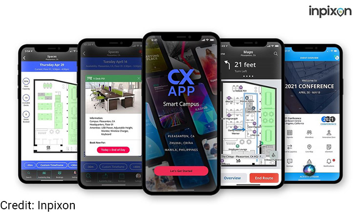 Mobile phones with CXApp user interfaces.
