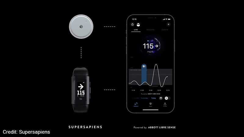 Supersapiens mock up of their first hardware product, a wrist wearable called the Supersapiens Reader Version Zero.