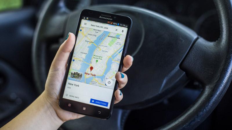 Google Maps app on a smartphone.