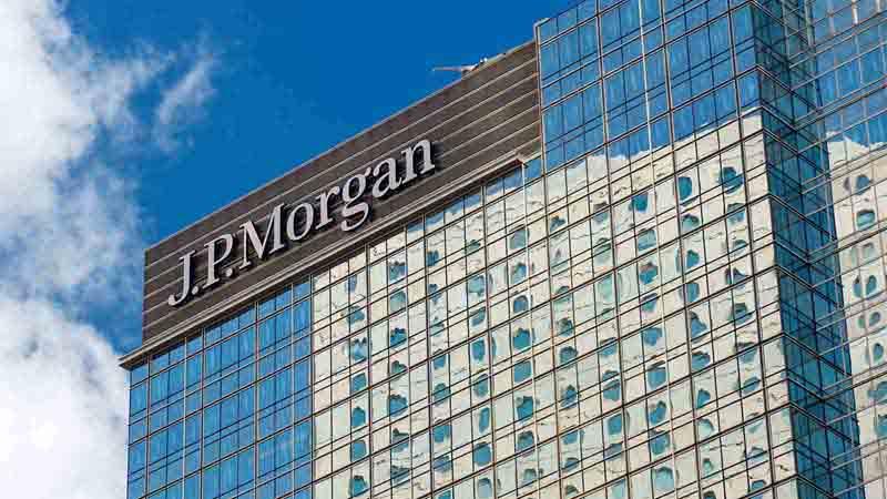 JP Morgan skyscraper in Hong Kong.