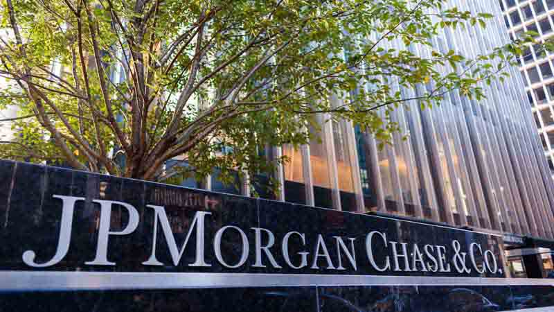 JP Morgan Chase and Co. sign.