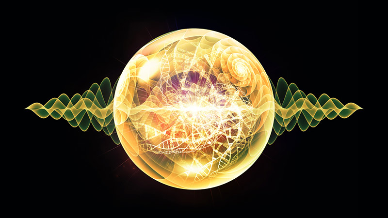 Fractal spherical patterns.