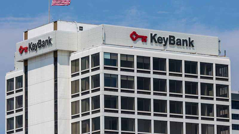 KeyBank building in South Bend, Indiana.