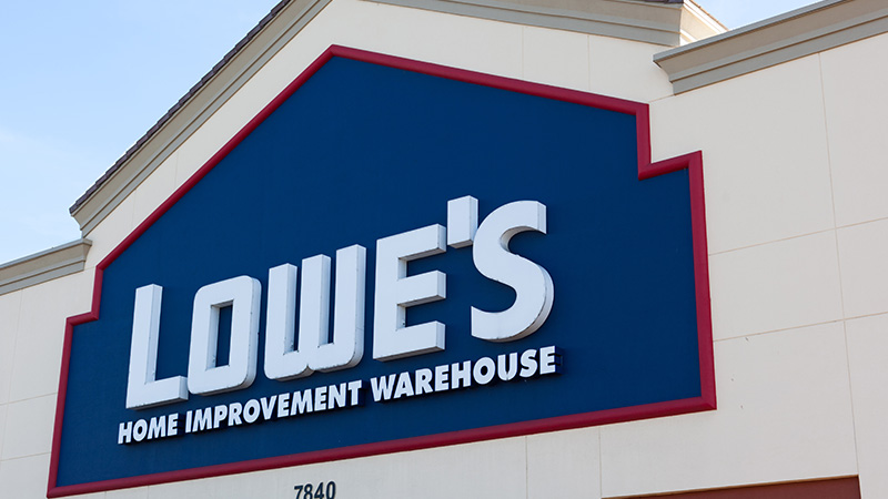 The front of  Lowe's store.