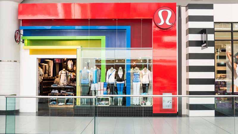 Lululemon Athletica storefront in Toronto, Canada.