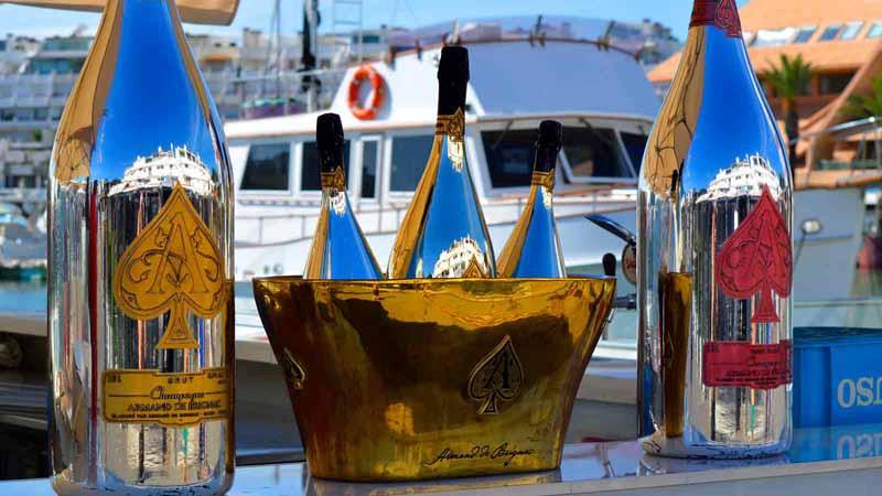 Armand De Brignac Ace Of Spades champagne.
