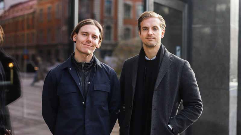 Memmo COO Tobias Bengtsdahl and CEO Gustav Lundberg Toresson.