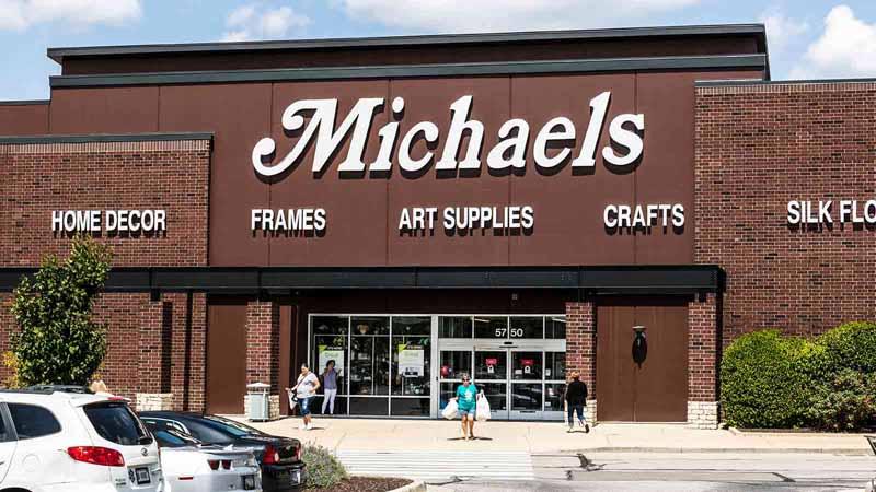 Michaels storefront.