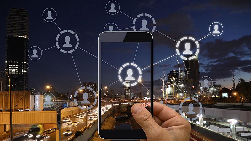 Social media network concept.
