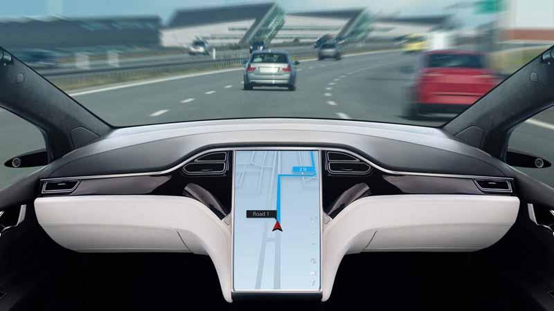 Inside view of an autonomous car.