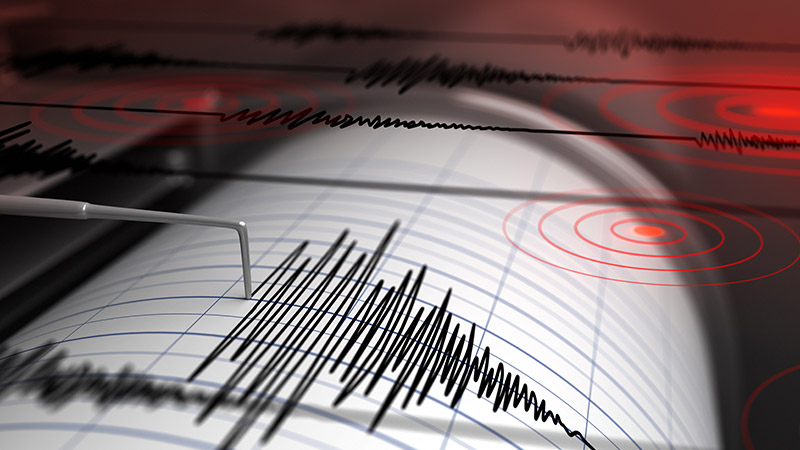 3D rendering of a seismograph.