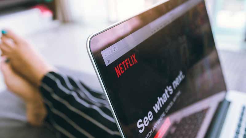 Netflix webpage on a laptop screen.