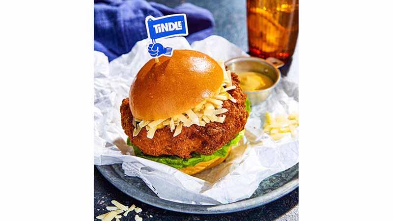 TiNDLE Buttermilk Burger.