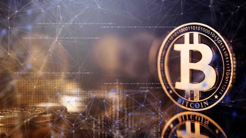 Abstract image of bitcoin.