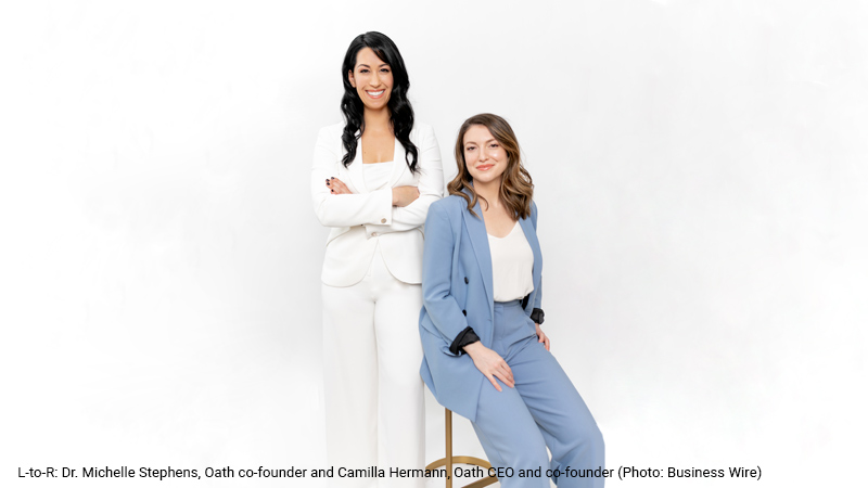 Oath co-founders Dr. Michelle Stephens and Camilla Hermann.