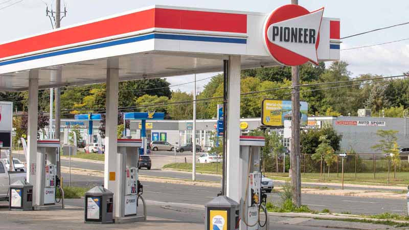 Pioneer gas station in Toronto, Canada.