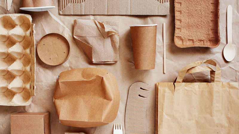 Eco-friendly disposable packaging.