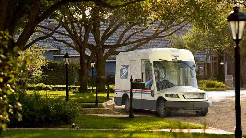 New USPS EV truck by Oshkosh Defense.
