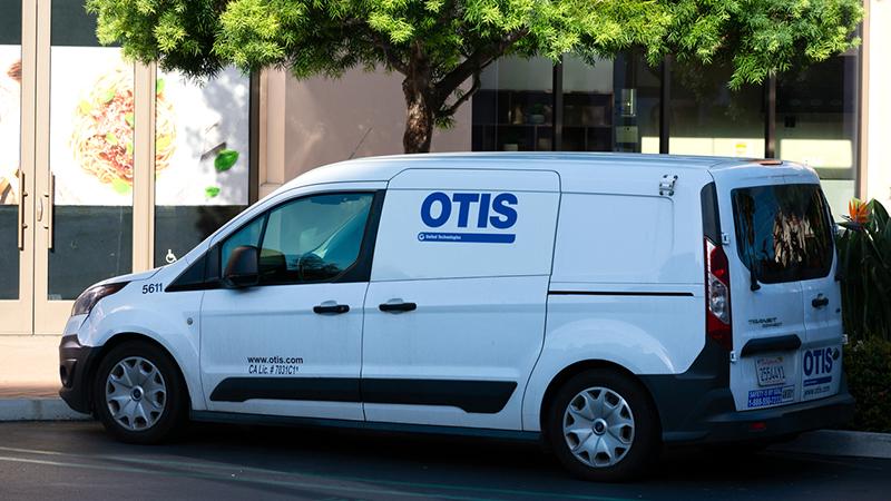 Otis United Technologies service van.