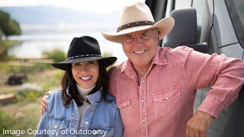 Outdoorsy co-founders Jen Young and Jeff Cavins.