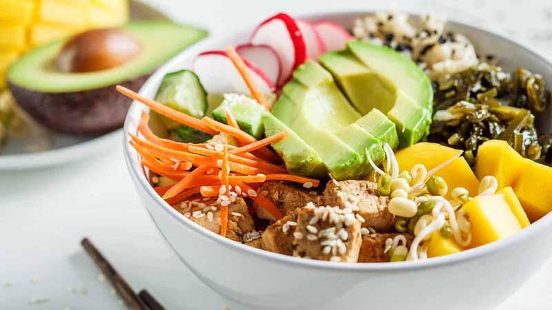 A vegan poke bowl.