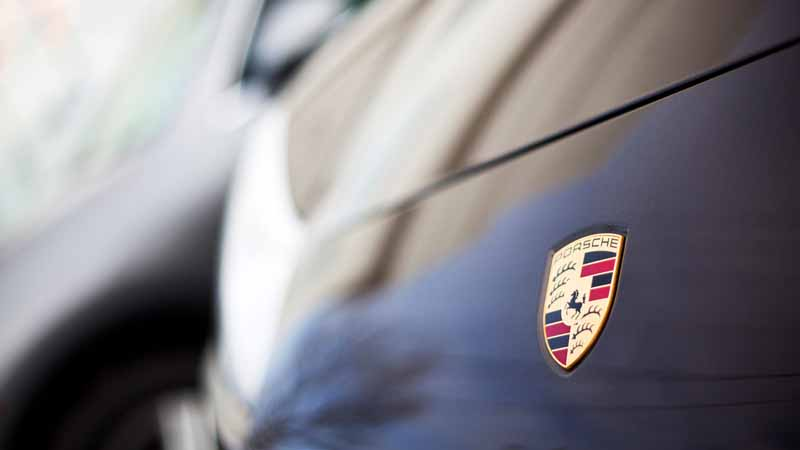 Closeup of a Porsche 911 Carrera S.