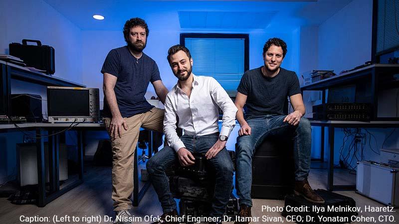 Quantum Machines co-founders Dr. Itamar Sivan, Dr. Yonatan Cohen, and Dr. Nissim Ofek.