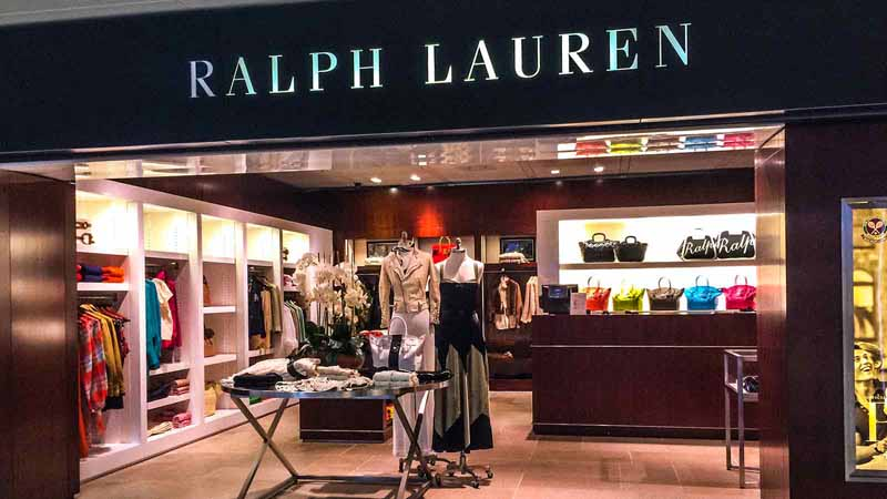 Ralph Lauren storefront.