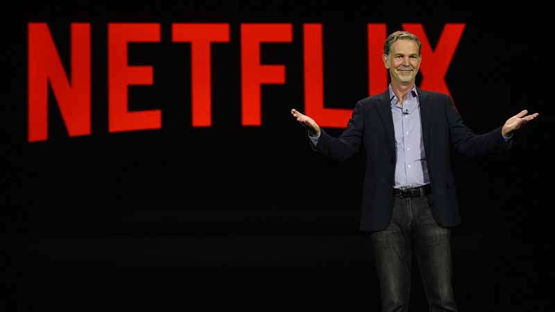 Netflix CEO Reed Hastings at CES 2016.