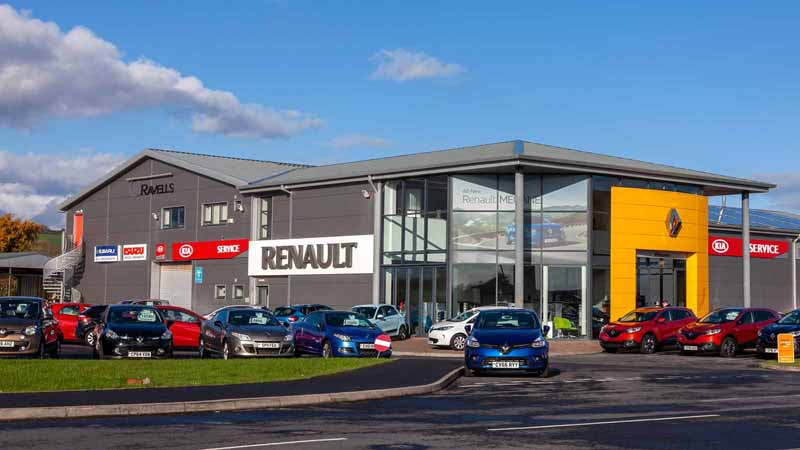 A Renault showroom in the UK.