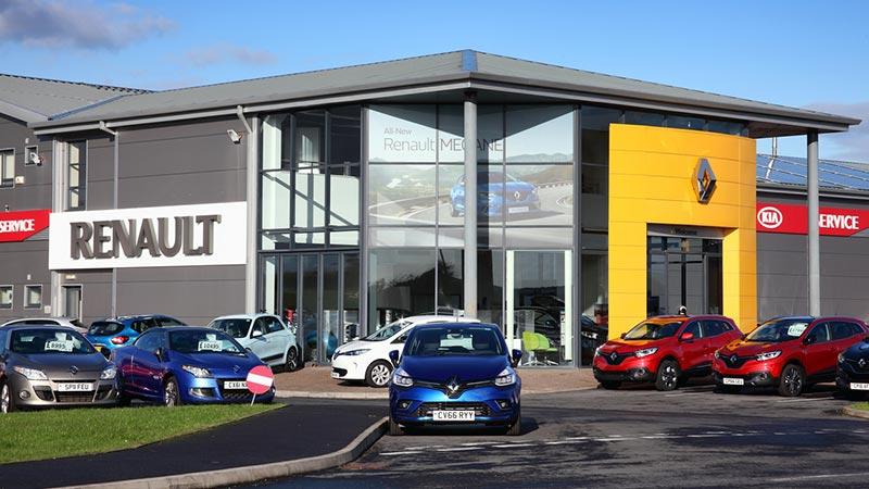 Renault car showroom.