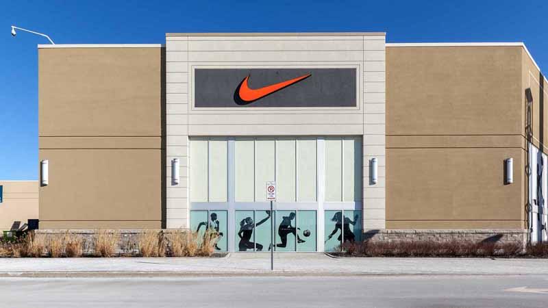 Nike storefront.