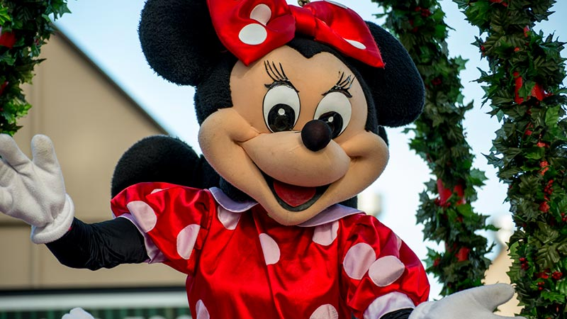 Minnie Mouse at a parade.